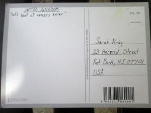 UK Postcard Back