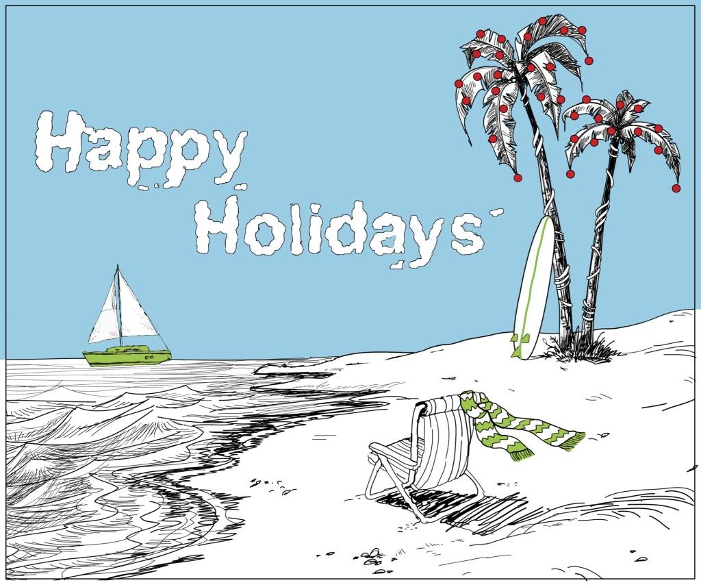 Holiday Beach Card